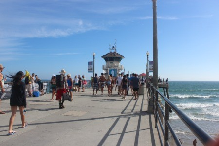 A view of Huntington Beach Pier.