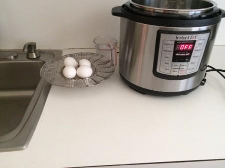 Pressure Cooker Hard Boiled Eggs