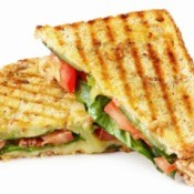 A grilled panini sandwich.