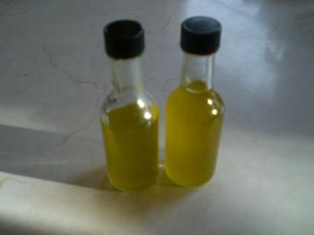 infused oil in bottle