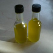 infused oil in bottle