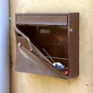 Damaged Mailbox