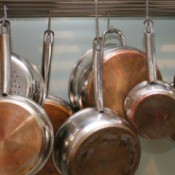 Hanging Copper Bottom Pans