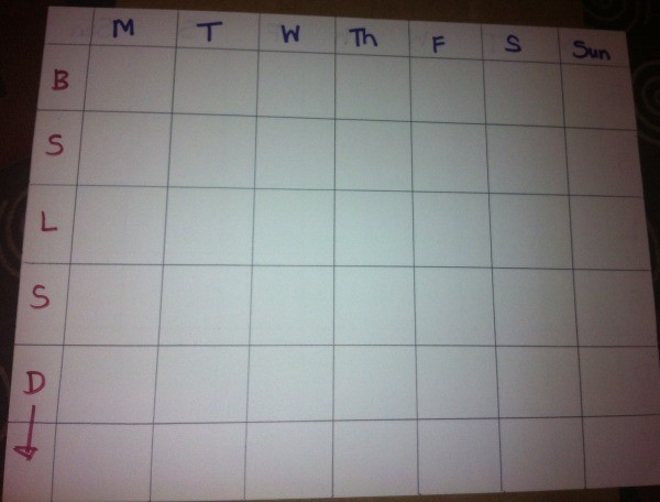 DIY Weekly Meal Planner -finished blank planner