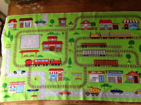 Fabric Panel Playmate - pressed train panel