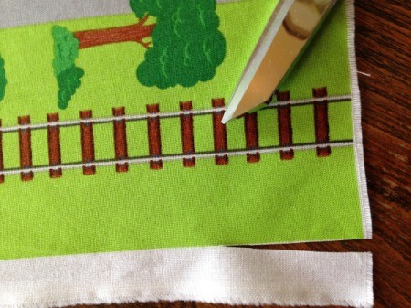 Fabric Panel Playmat - cutting off the selvage