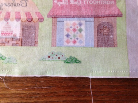 Fabric Panel Playmat - panels and batting pinned