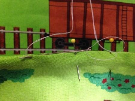 Fabric Panel Playmat - stitching closed