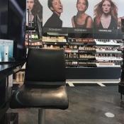 A makeup chair at Sephora.