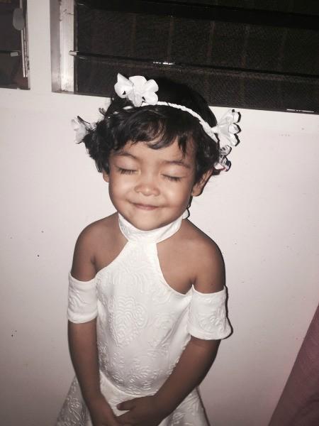 Calendar Flower Crown - little girl wearing crown