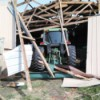 Keep an Inventory of What You Own - small shed barn collapsed on tractor