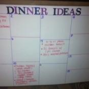 DIY Weekly Meal Planner - dinner