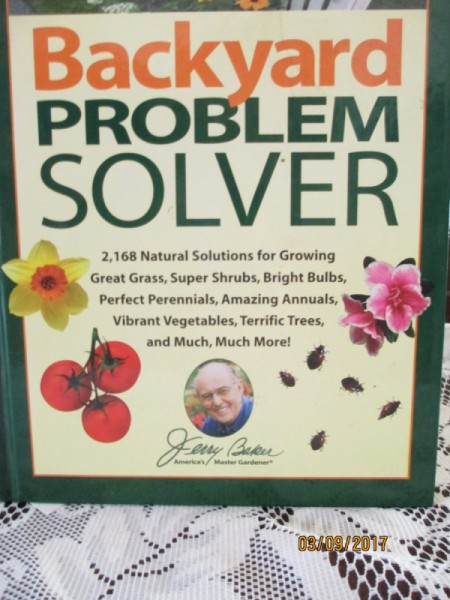 "The book cover for ""Backyard Problem Solver."""
