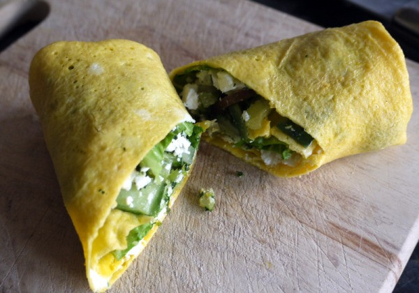 A thin tortilla wrap made from egg.