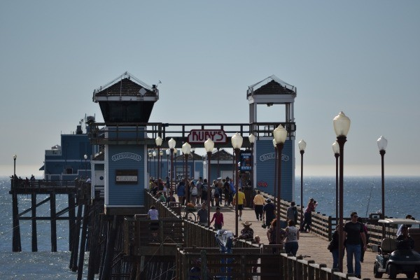 The busy Oceanside Pier in California.
