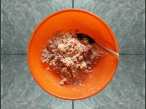 Binder For Corned Beef Hash - bowl of corned beef hash