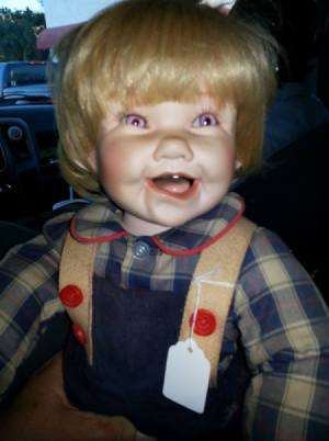 Information on Porcelain Doll - closeup of boy doll