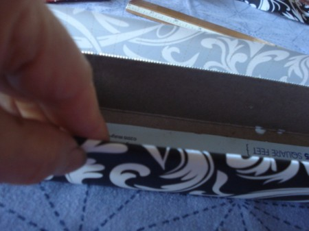 Aluminum Foil Box Desk Organizer - cover all sides of box with paper and glue in place