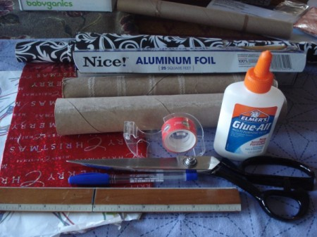 Aluminum Foil Box Desk Organizer - supplies for project