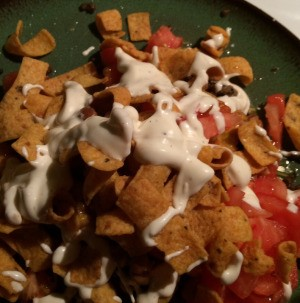 ranch dressing added to plate