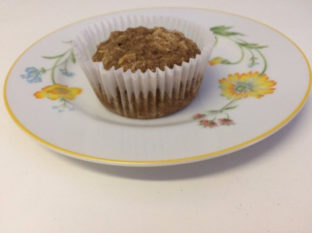 applesauce oat muffin on plate
