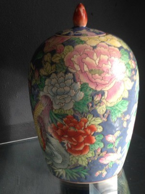 Value of Asian Motif Vase