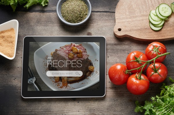 Cookbook software and templates thriftyfun a tablet with recipe software showing on the screen forumfinder Gallery