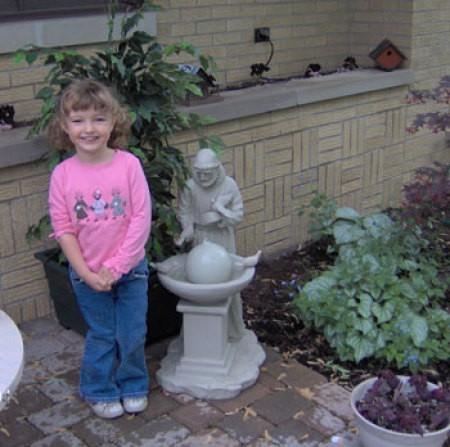 Dani and Water Fountain