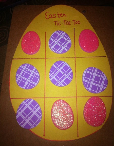 Easter Tic-Tac-Toe - finished sticker board