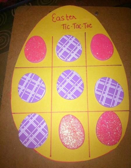 Easter Tic-Tac-Toe - sticker board