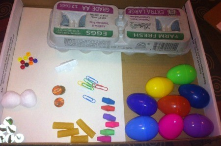 Easter Egg Sound Matching Activity - eggs and filler items