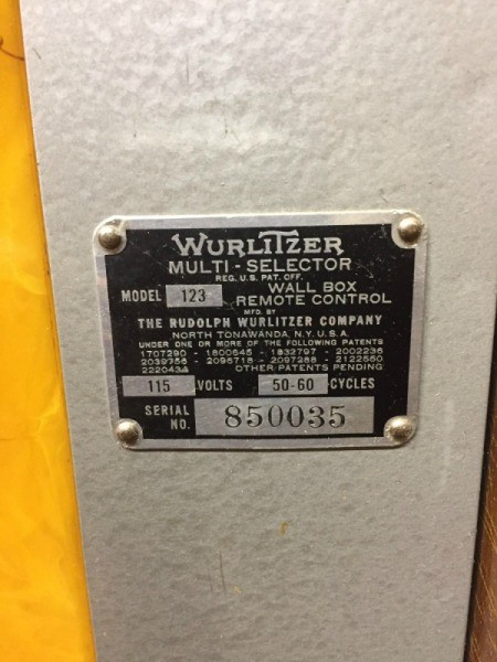 Value of a Wurlitzer Model 123