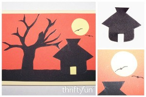 Handmade Sunset Silhouette Card