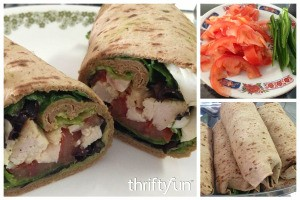 Healthy Rotisserie Chicken Wraps