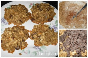 Banana Oatmeal Chocolate Chip Walnut Cookies