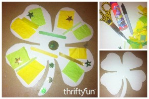 Four-Leaf Clover Collage Craft for Kids