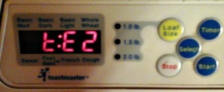 Toastmaster Bread Machine Error Code