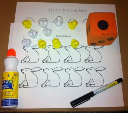 Printable Easter Bingo and Stamp Games - supplies