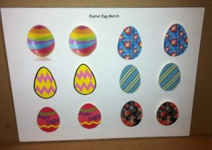 Simple Paper Easter Egg Match - completed game