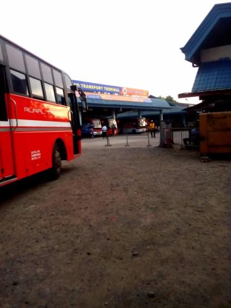 A bus terminal.