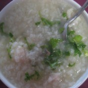 Chicken and Rice Porridge in bowl.