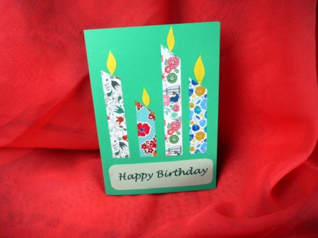 Candle Birthday Card - glue flames above candles