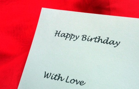 Birthday Parcel Card - printed greetings