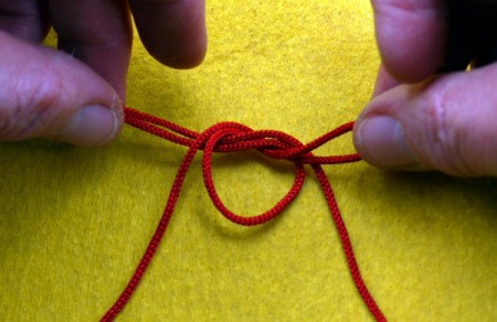 Birthday Parcel Card - tying loops into a bow