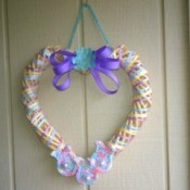 Crochet Bunny Wreath - wreath hanging