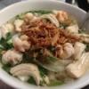 Bowl of Chicken and Shrimp Noodle Soup