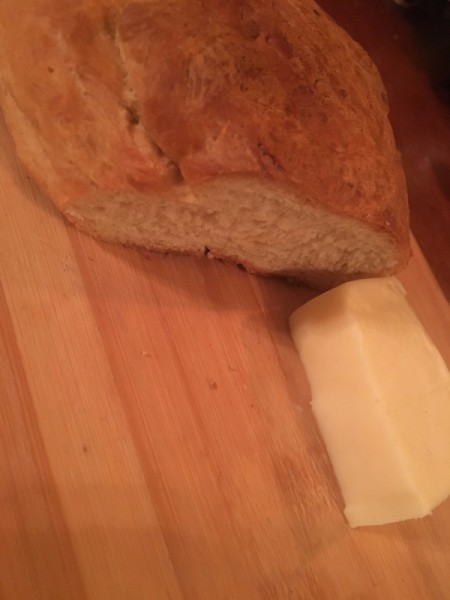 bread and cheese for French onion soup.