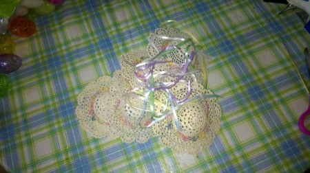 Mini Hat Spring Wreath - hats and ribbon