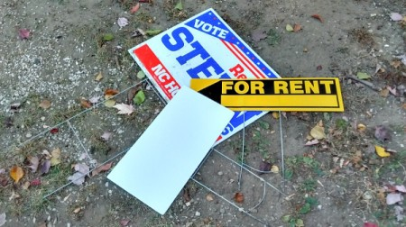 Recycled Yard Signs