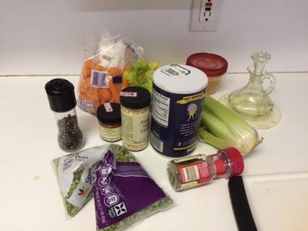 Pressure Cooker Pea Soup ingredients